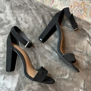 NWOT Black Ankle Stress Tapered Heel Wide Width